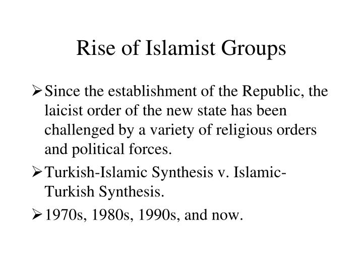 Rise of Islamist Groups