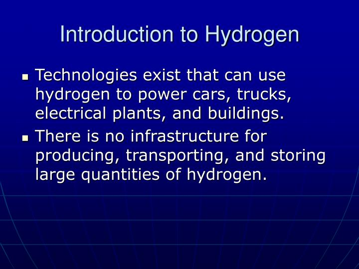 Introduction to hydrogen1