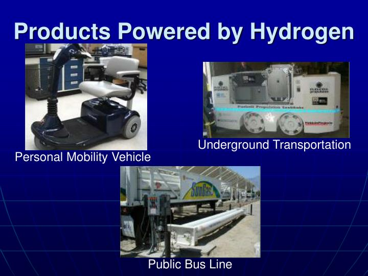 Products Powered by Hydrogen