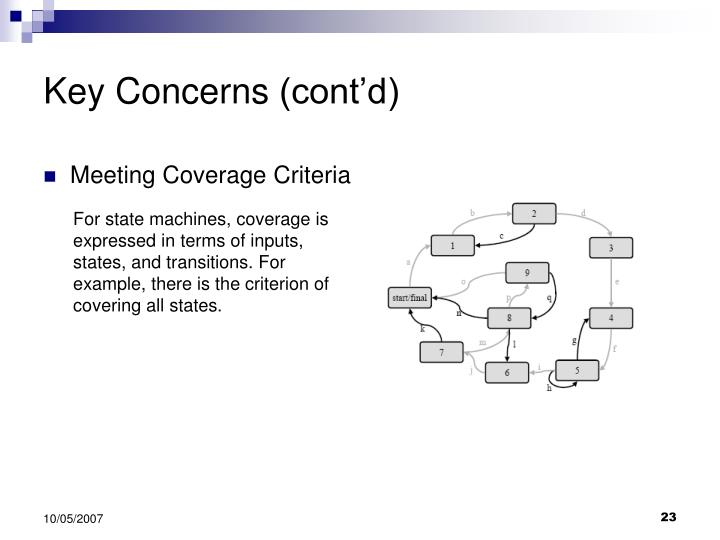 Key Concerns