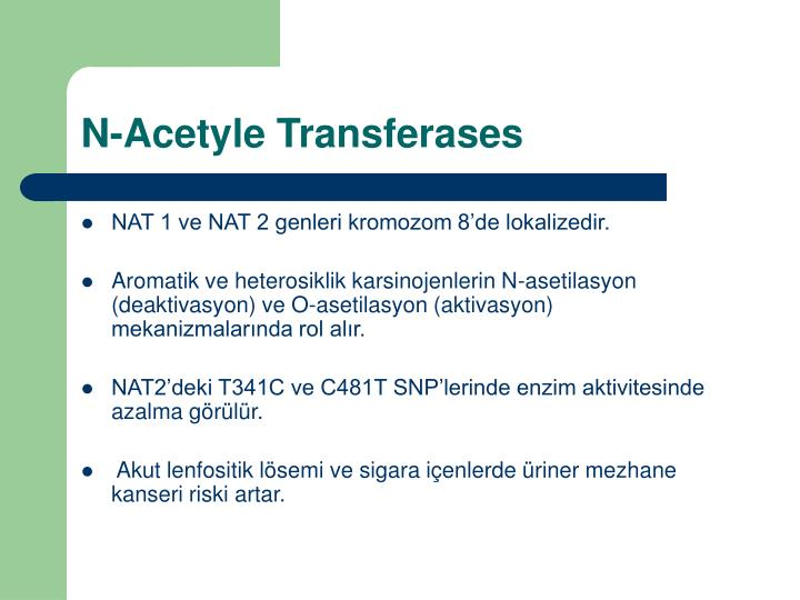 N-Acetyle Transferases
