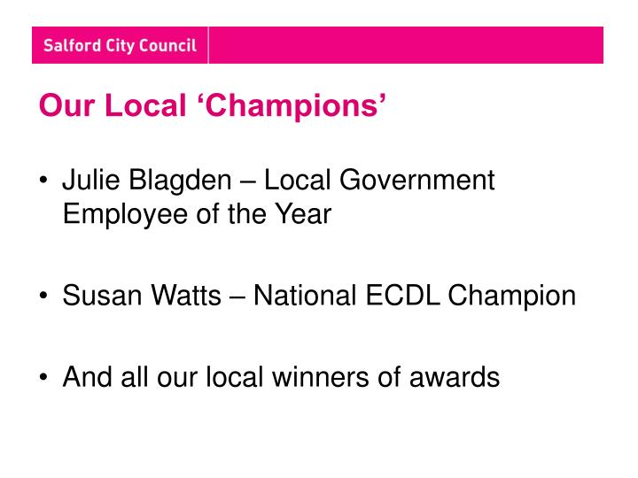 Our Local 'Champions'