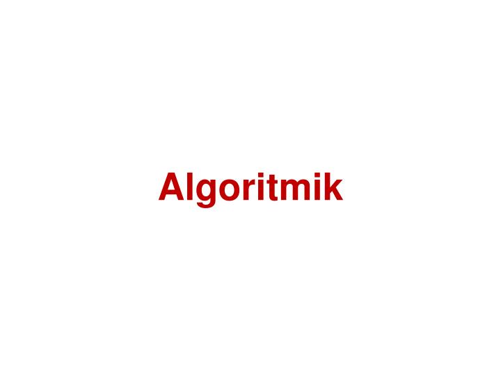 Algoritmik