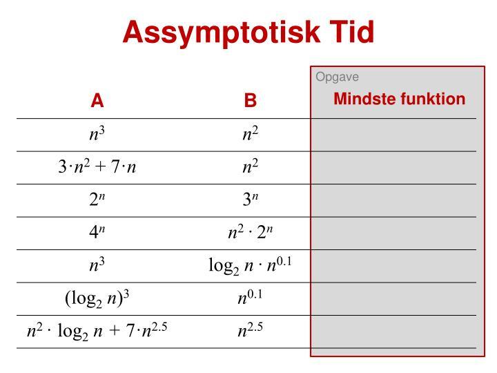 Assymptotisk