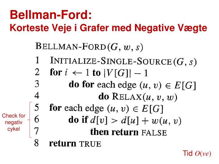 Bellman-Ford: