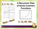 a recursive view of some common functions