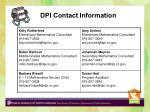 dpi contact information