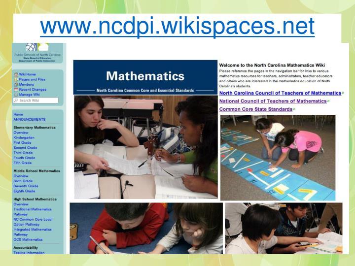 www.ncdpi.wikispaces.net