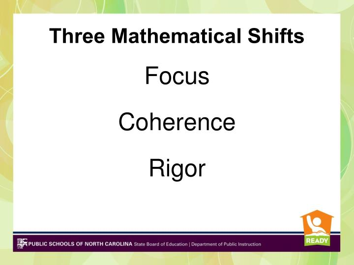 Three Mathematical Shifts