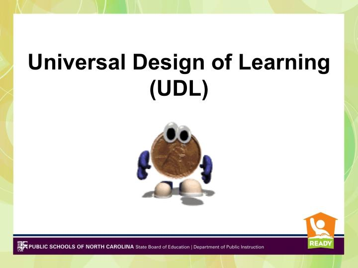 Universal Design of Learning