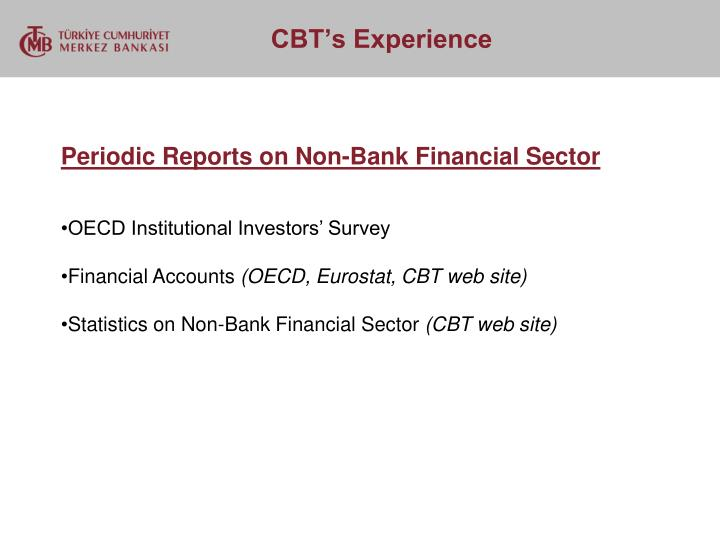 Periodic Reports on Non-Bank Financial Sector