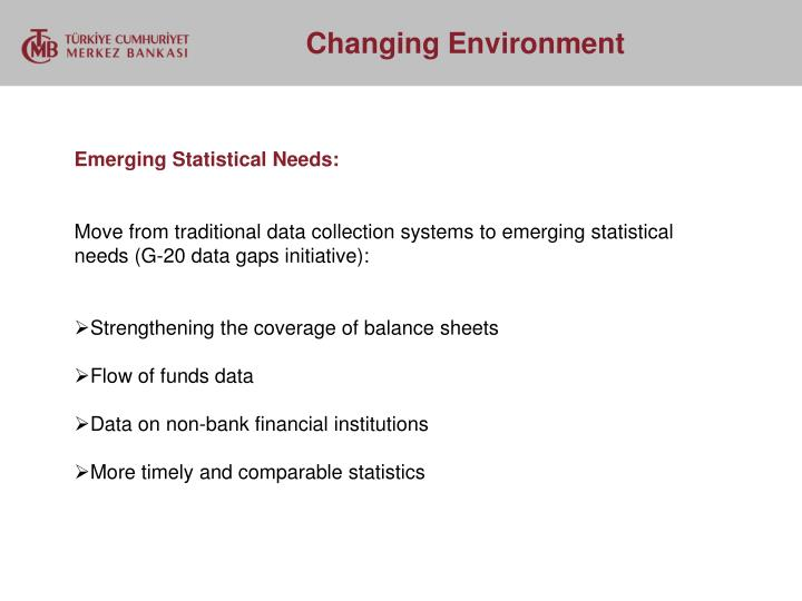 Emerging Statistical Needs: