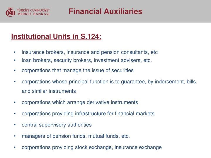 Institutional Units in S.124:
