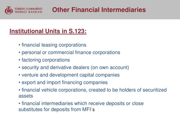 Institutional Units in S.123: