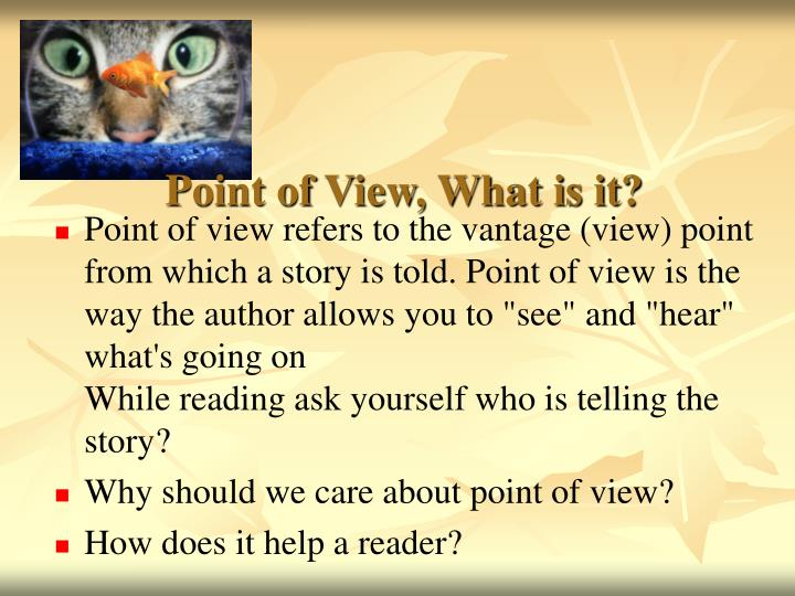 Point of View, What is it?