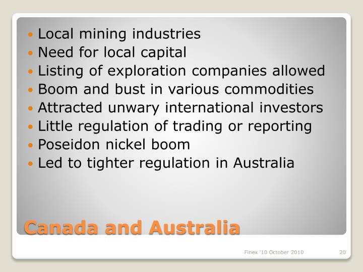 Local mining industries
