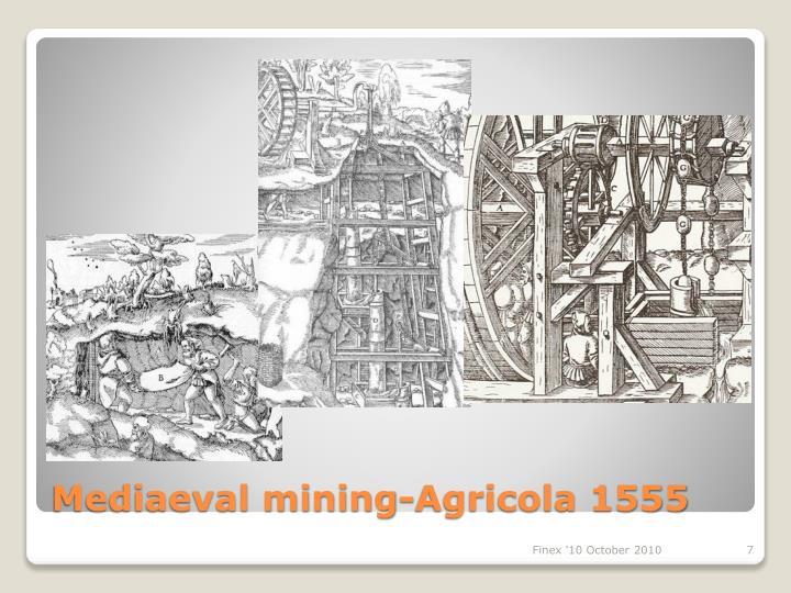 Mediaeval mining-Agricola 1555