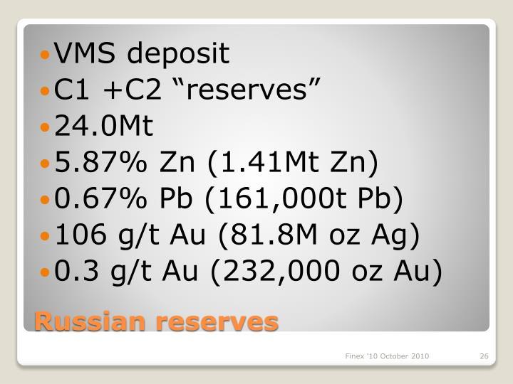 VMS deposit