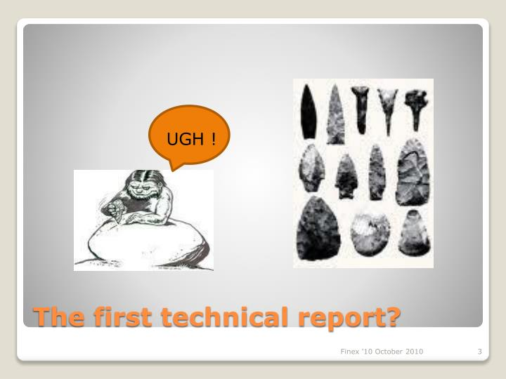 The first technical report