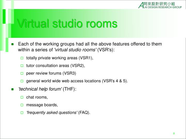 Virtual studio rooms