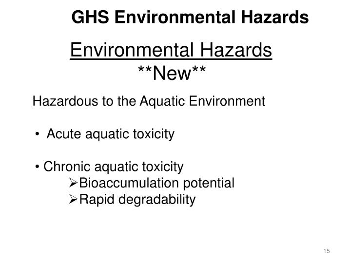 GHS Environmental Hazards