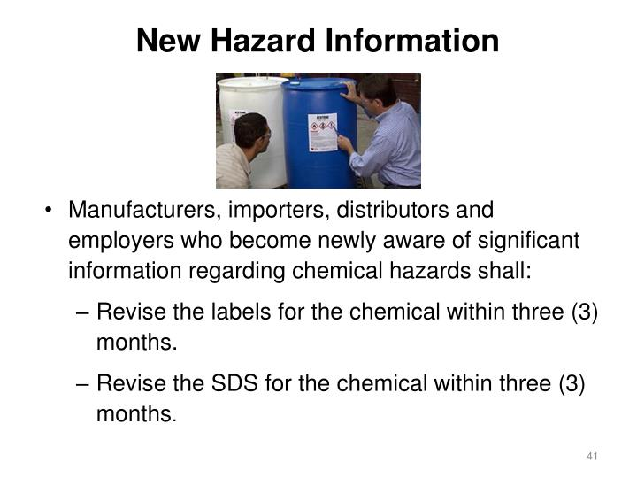 New Hazard Information