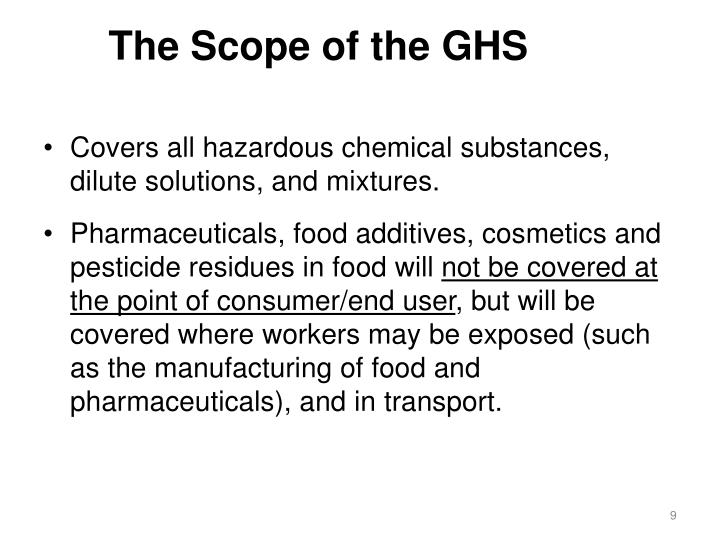 The Scope of the GHS