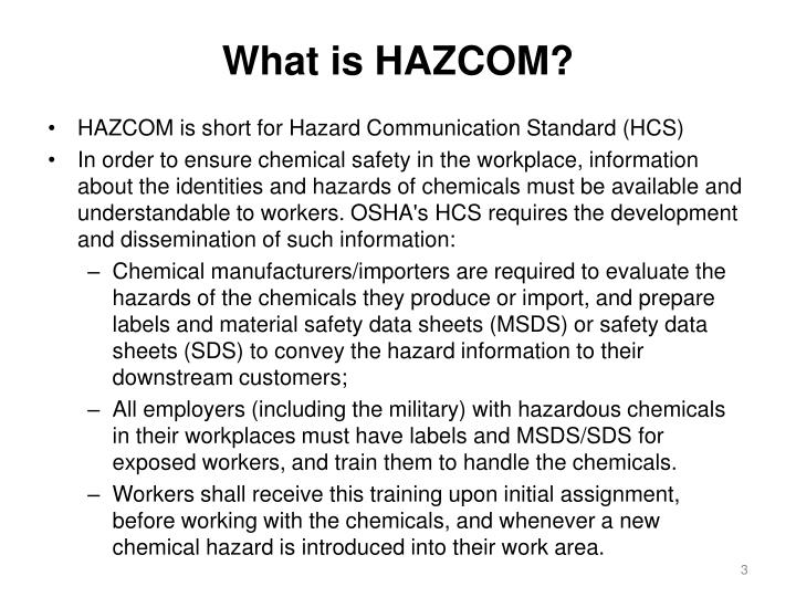 What is HAZCOM?