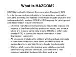 what is hazcom