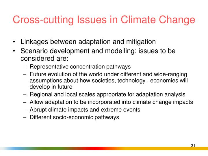 Cross-cutting Issues in Climate Change