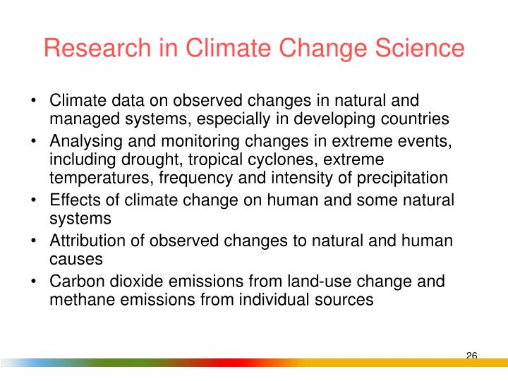 Research in Climate Change Science