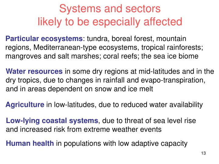 Systems and sectors