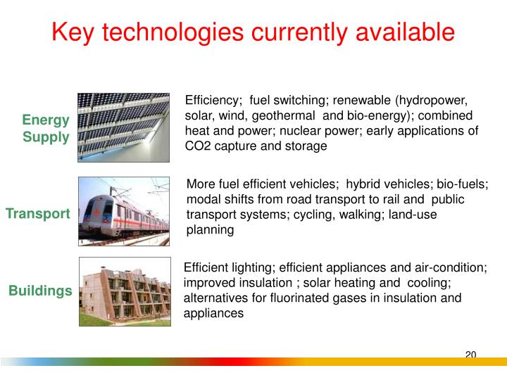 Key technologies currently available