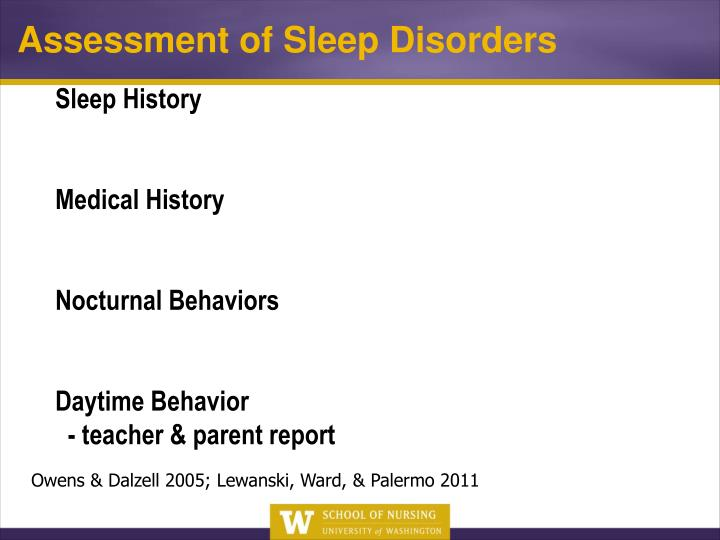 Sleep History