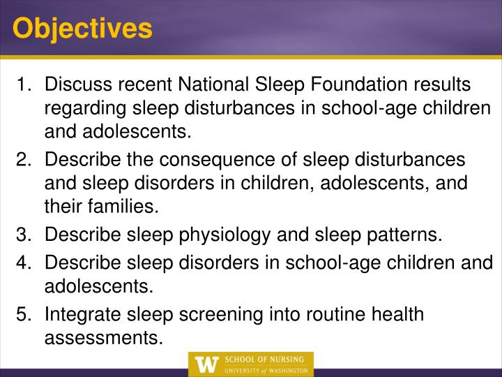 Discuss recent National Sleep Foundation results regarding sleep disturbances in school-age children and adolescents.