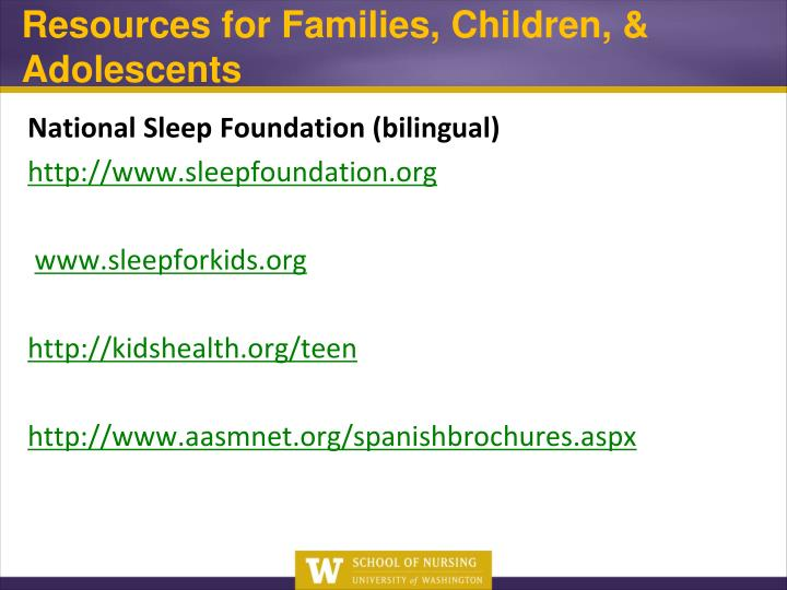 Resources for Families, Children, & Adolescents