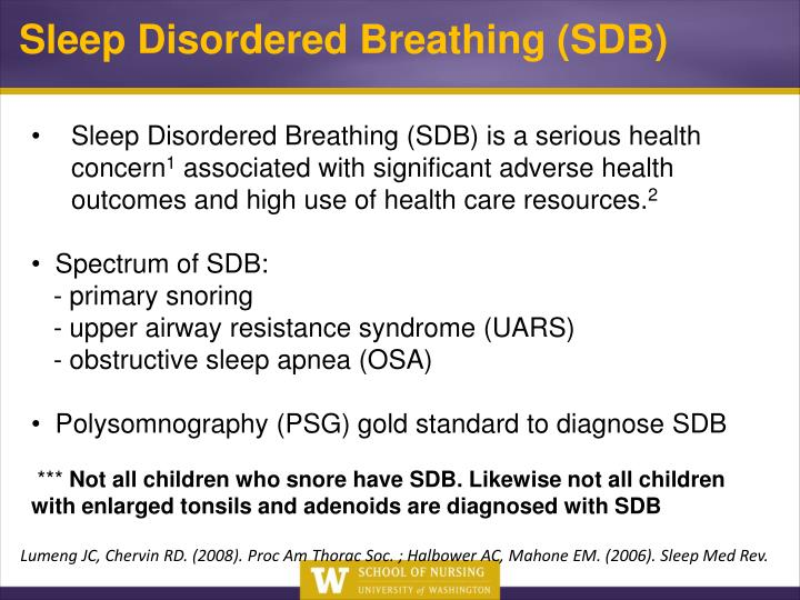 Sleep Disordered Breathing (SDB)