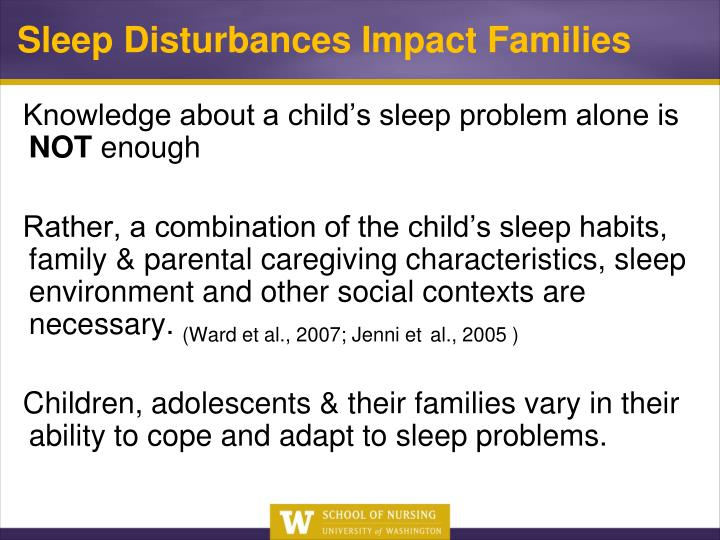 Knowledge about a child's sleep problem alone is