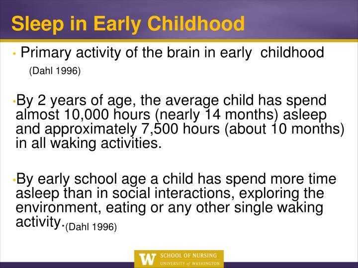 Sleep in Early Childhood