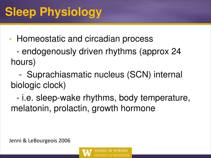 Homeostatic and circadian process