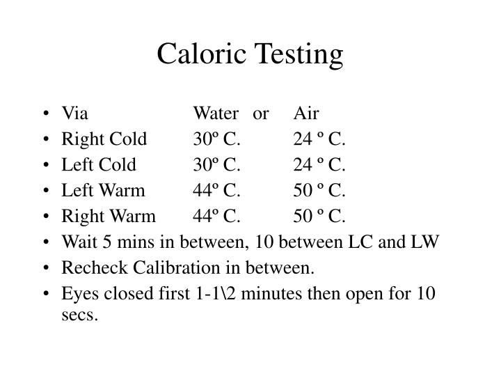 Caloric Testing