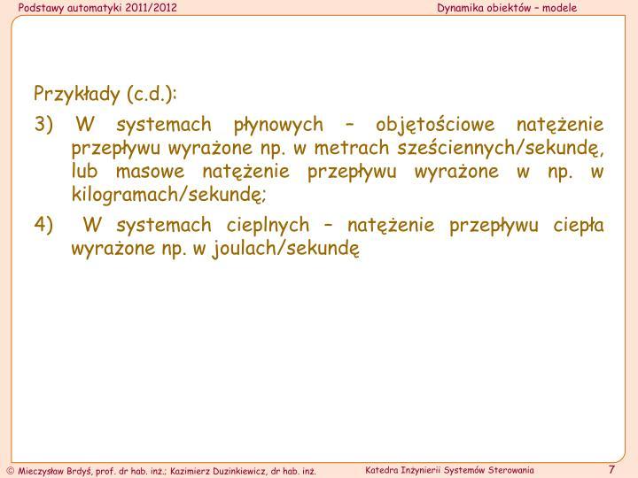 Przykłady (c.d.):