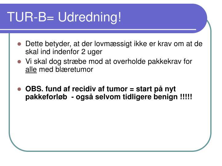 TUR-B= Udredning!
