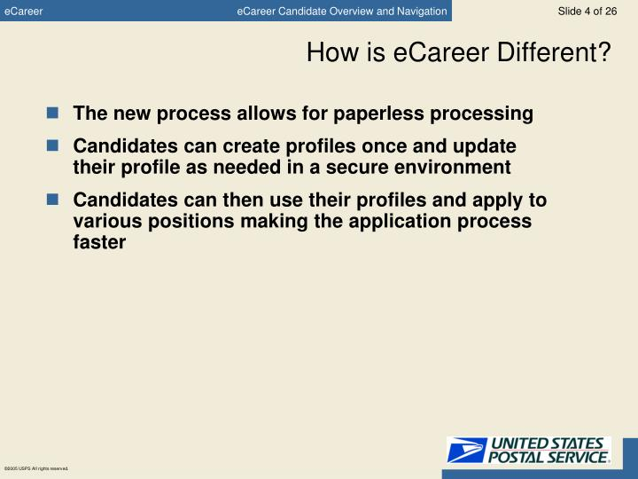 How is eCareer Different?