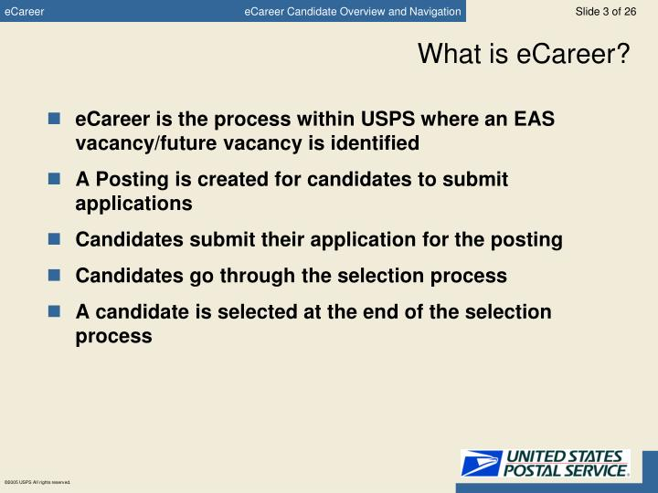 What is ecareer