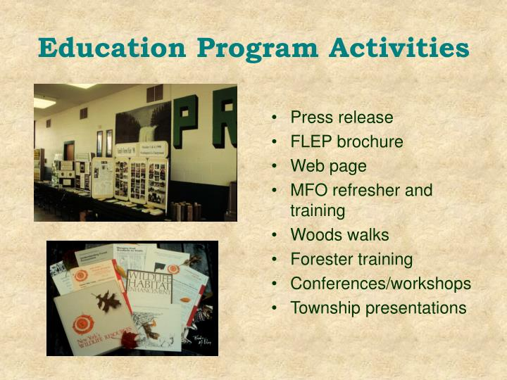 Education Program Activities