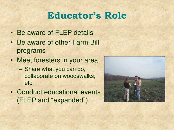 Educator's Role