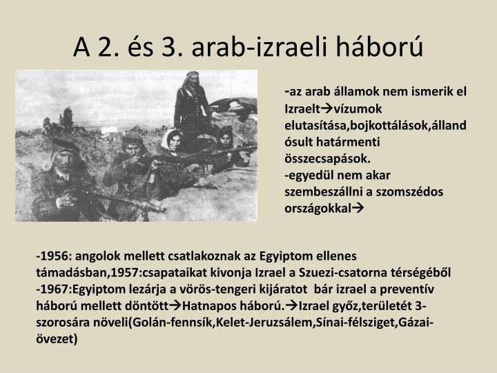 A 2. és 3. arab-izraeli háború