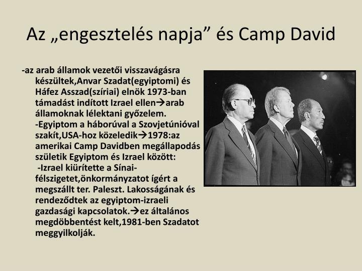 """Az """"engesztelés napja"""" és Camp David"""