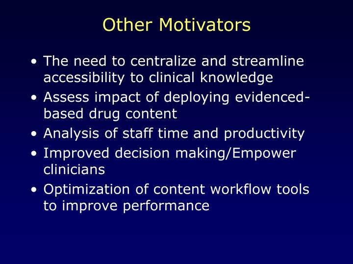 Other Motivators